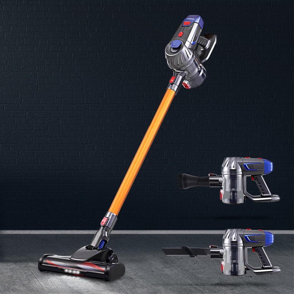 Devanti Vacuum Cleaner Cordless Handstick Bagless 2-Speed Headlight Gold