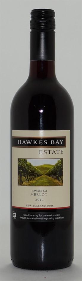 Hawkes Bay Estate Merlot 2011 (6x 750mL), NZ. Screwcap.