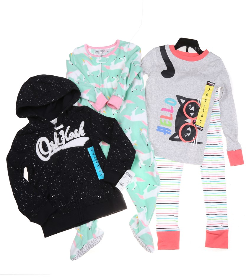 Assorted SIGNATURE & CARTER`S Girl`s Clothing, Sizes: 24M, 4T & 5, Polyeste