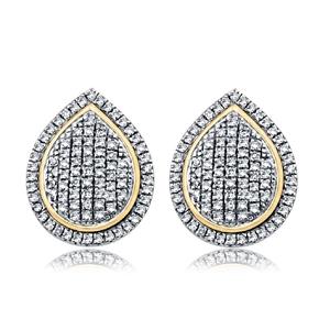 9ct Yellow Gold, 0.27ct Diamond Earring