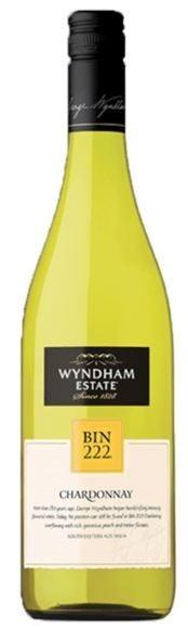 George Wyndham Bin 222 Chardonnay 2018 (6 x 750mL), SE AUS.