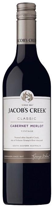 Jacobs Creek Classic Cabernet Merlot 2018 (12 x 750mL), SE, AUS.
