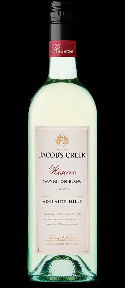 Jacobs Creek Reserve Sauvignon Blanc 2017 (6 x 750mL),Adelaide Hills.SA.