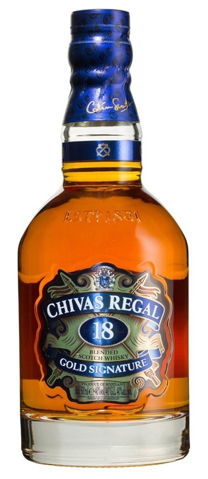 Chivas Regal 18YO Gold Siganture Blended Scotch Whisky (6 x 700mL)