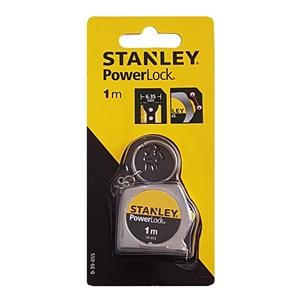 2 x STANLEY Powerlock Key Ring Tape Meas