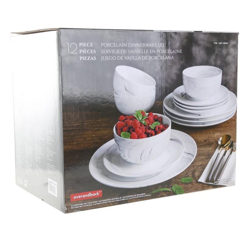 ARABESQUE 12 pc Porcelain Dinnerware Set (SN:CC27217) (270223-23)