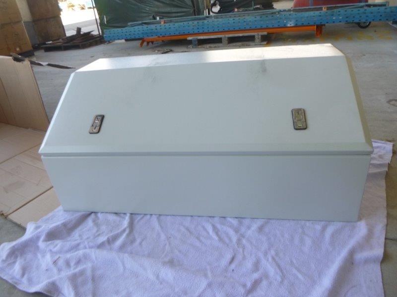 Galvanised and Powder Coated White Toolbox (Bid Price Per Toolbox)