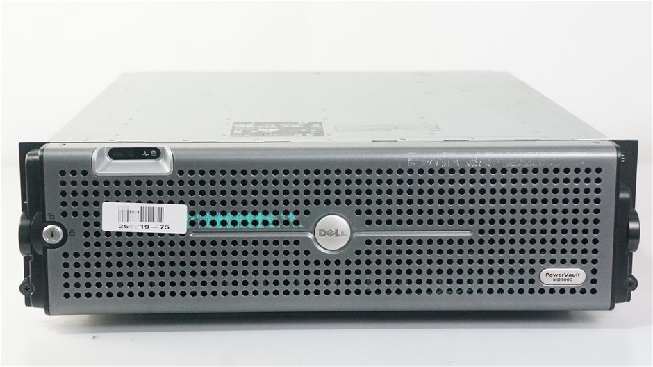 Dell PowerVault MD1000 15-Bay Storage Disk Array with 26TB Capacity