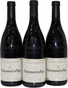 Pack of Pasqueier Desvignes Chateaunneuf