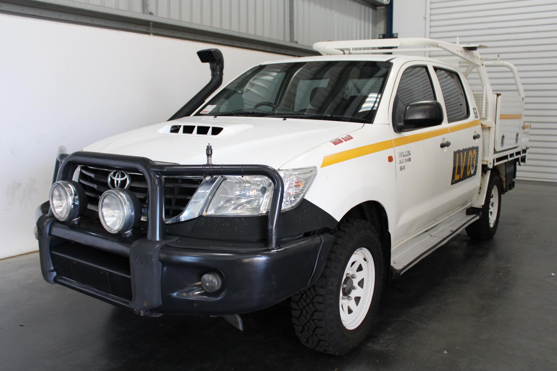 2013 Toyota Hilux SR (4x4) KUN26R Turbo Diesel Dual Cab Chassis 70,498km