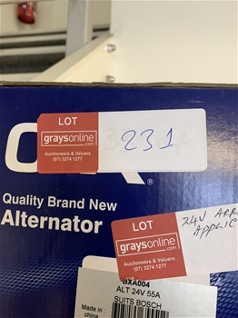 2 x Unused Alternator 55A Suit various applications