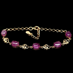 Gorgeous Rose Gold Pink Ruby Bracelet