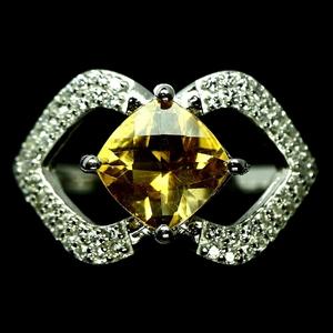Dazzling Golden Yellow Citrine Ring. Siz