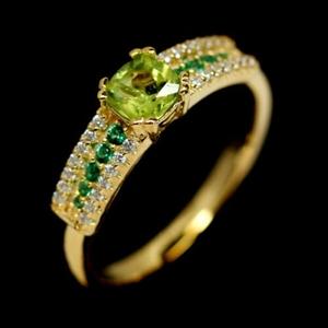 Enchanting Peridot & Chrome Green Diopsi