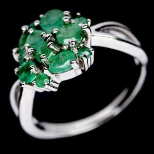 Delightful Green Emerald Ring. Size 'N'