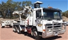 1994 Volvo FL10 Lifter Borer Truck with Trailer