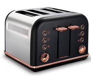 MORPHY RICHARDS 4-Slice Toaster, White w