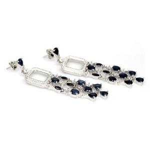 Divine Genuine Sapphire Drop Earrings