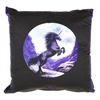 ANNE STOKES Black Unicorn Cushions, 38cm Square, Cotton with Polyester Fill