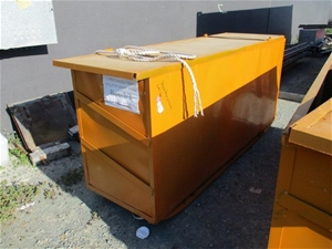 Large Steel Box and Lid