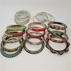 Collection Of 25 Crystal Bangles.