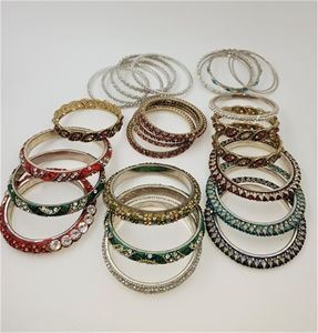 Collection Of 30 Crystal Bangles.