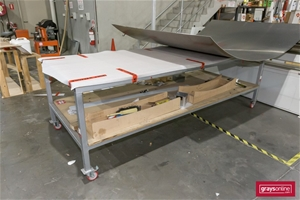 2 x Mobile Work Benches, 1 with Aluminiu