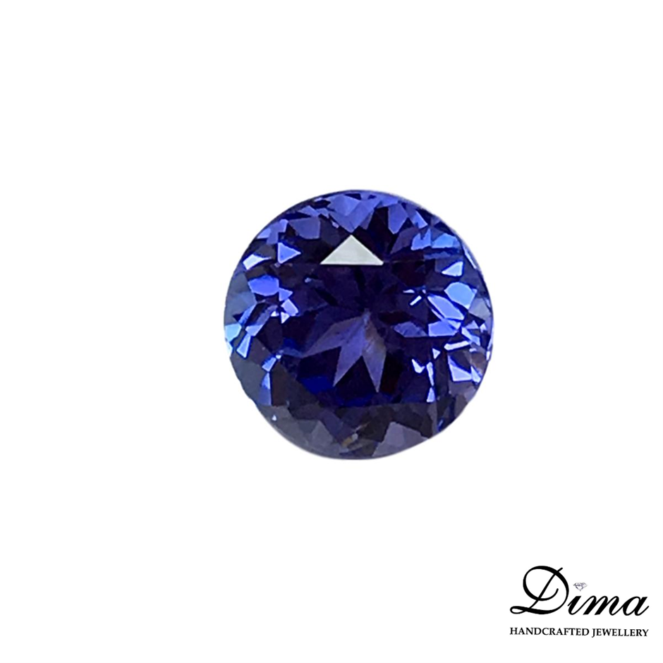 One Stone Tanzanite Round 0.79ct in Total