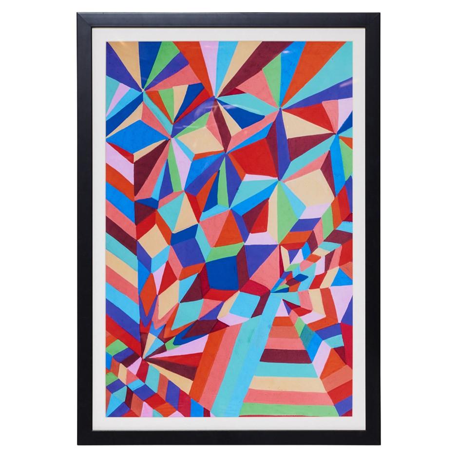 ORIGINAL Avril Gilmore MosaicFramed Print Black Frame