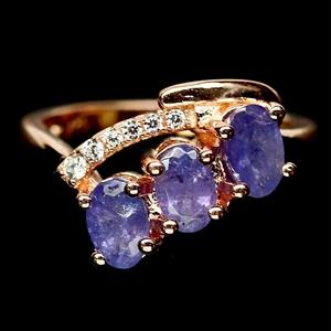 Striking Genuine Tanzanite Ring.