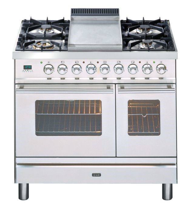 ILVE 90cm Double Electric Oven & Tepanyaki Cooktop (PDW90FMP/I)