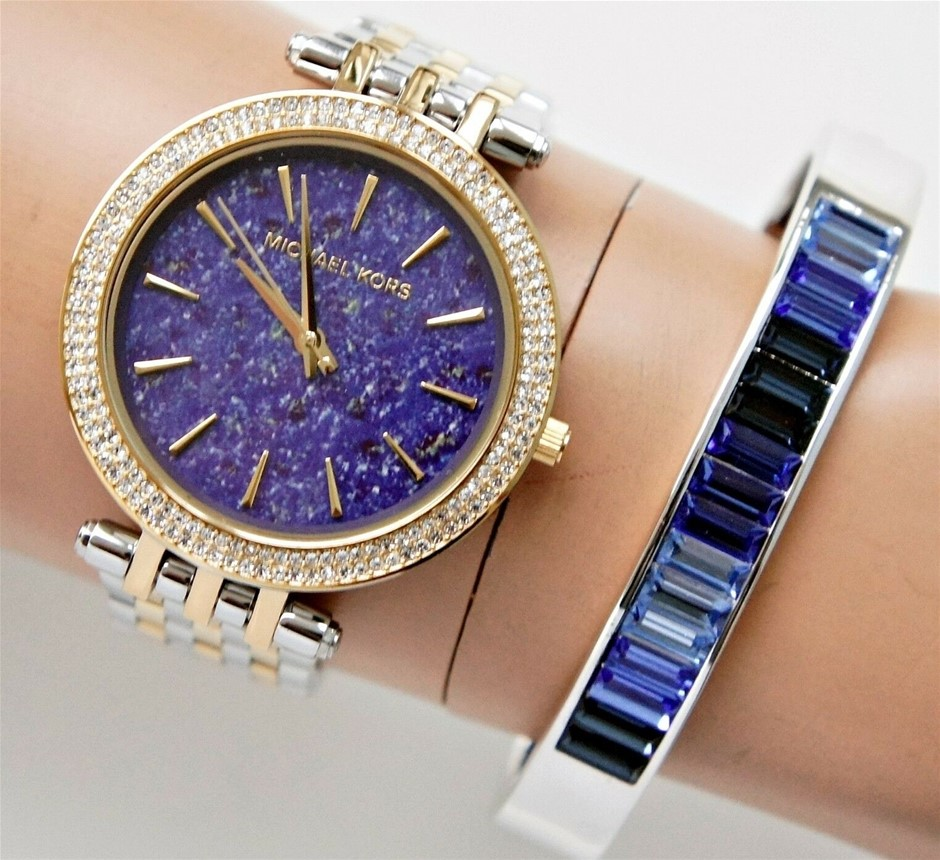 Stunning Ladies New Michael Kors Ny Couture Diamante Watch.