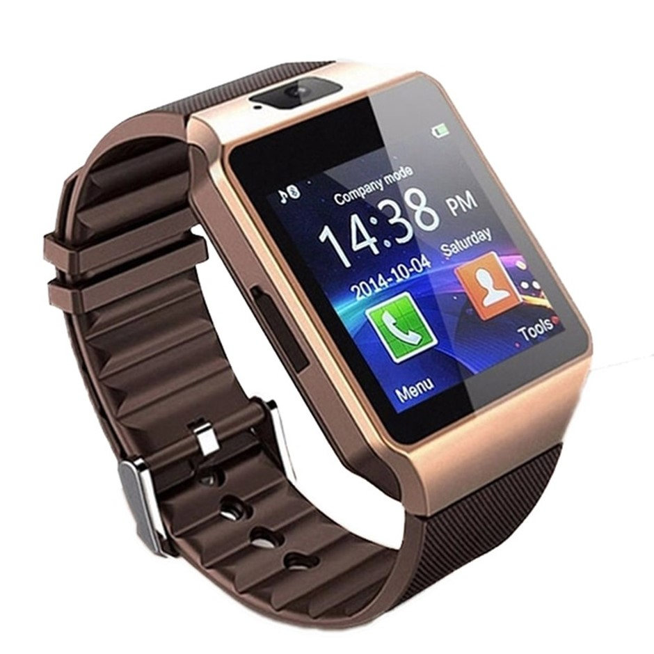 DZ09 Bluetooth Smart Watch for smartphones, Touch Screen, Rose Gold