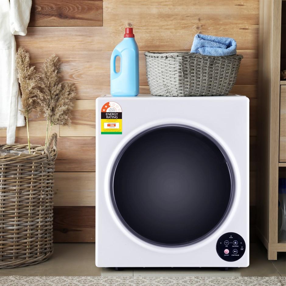 Devanti 6kg Tumble Dryer Vented Full Automatic Wall Mountable White