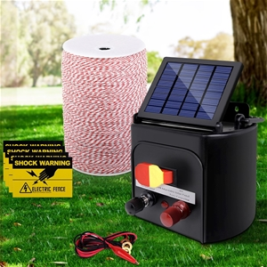 Giantz 3KM Solar Electric Fence Energise