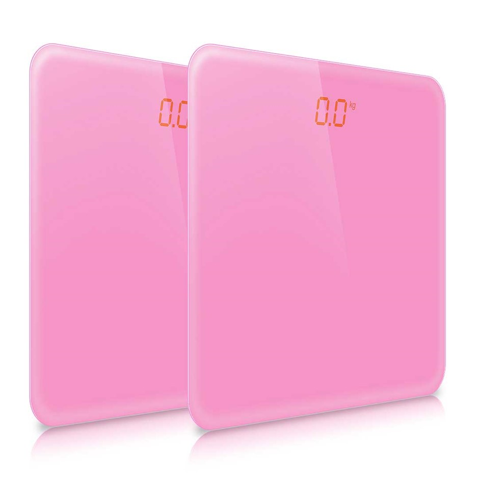 SOGA 2x 180kg Digital LCD Electronic Scale Pink