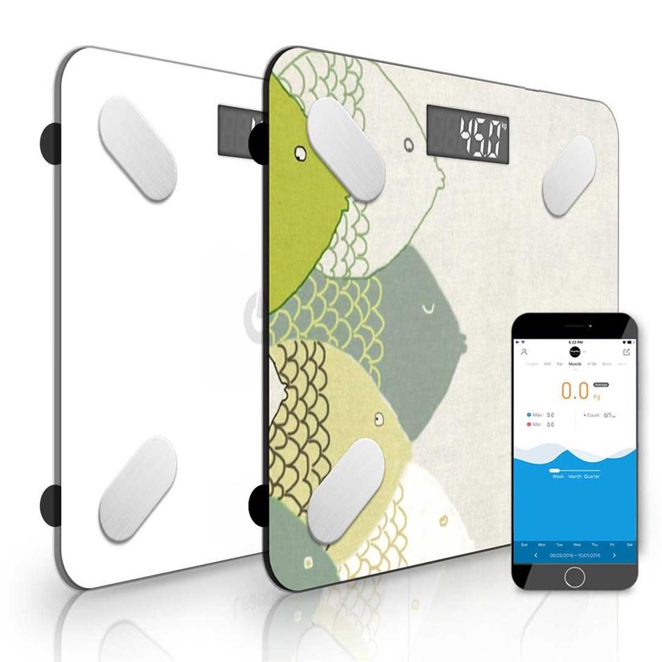 SOGA 2x Design Wireless Bluetooth Digital Body Fat Bathroom Health Analyzer
