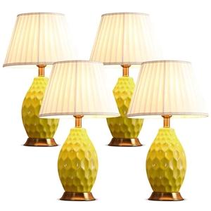 SOGA 4x Textured Ceramic Oval Table Lamp