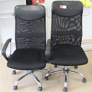 2 X High Back Office Chairs Auction 0196 9000848 GraysOnline Australia
