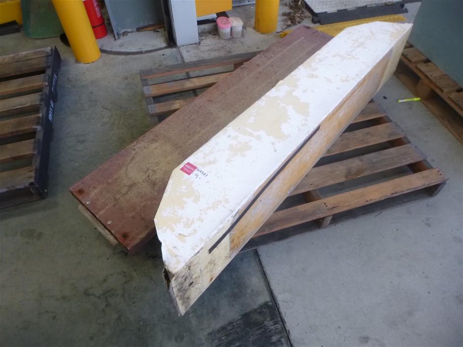 2x Aluminium & Fiberglass Boat Bench Seats