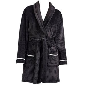 DKNY Short Plush Robe, Size L, 100% Poly