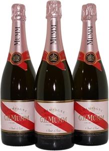 G.H.Mumm Brut Rose Champagne NV (3x 750m