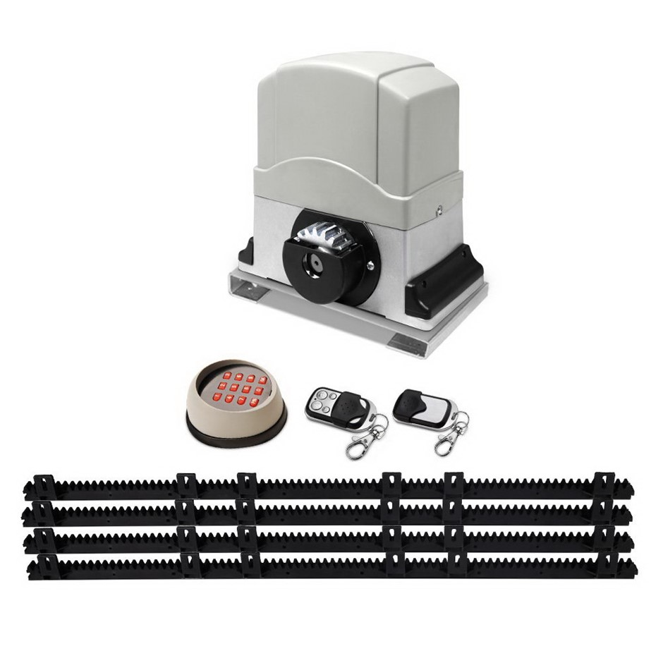 Giantz 1200KG Sliding Electric Gate Opener Remote Kit Heavy Duty 4m