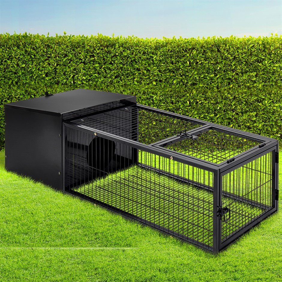 i.Pet Rabbit Cage Hutch IndoorOutdoor Hamster Enclosure Pet Metal Carrier