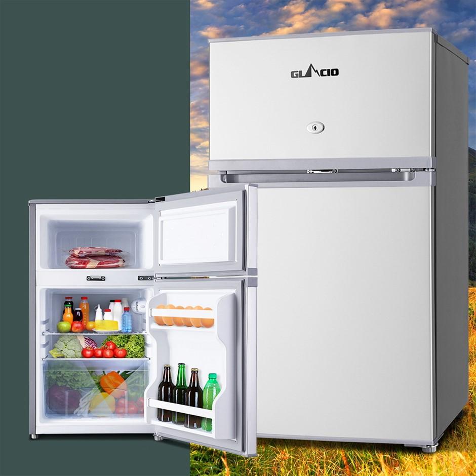 Glacio 90L Portable Bar Fridge Freezer Cooler 12/24V/240V Caravan Camp