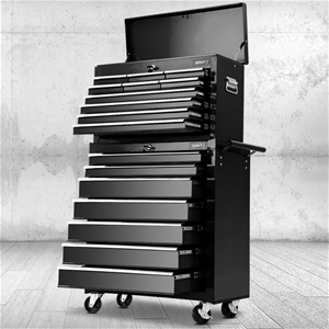 Giantz 17 Drawer ToolBox Trolley Chest C