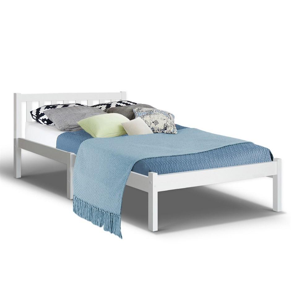 Artiss King Single Wooden Bed FrameTimber Mattress Size Base Bedroom