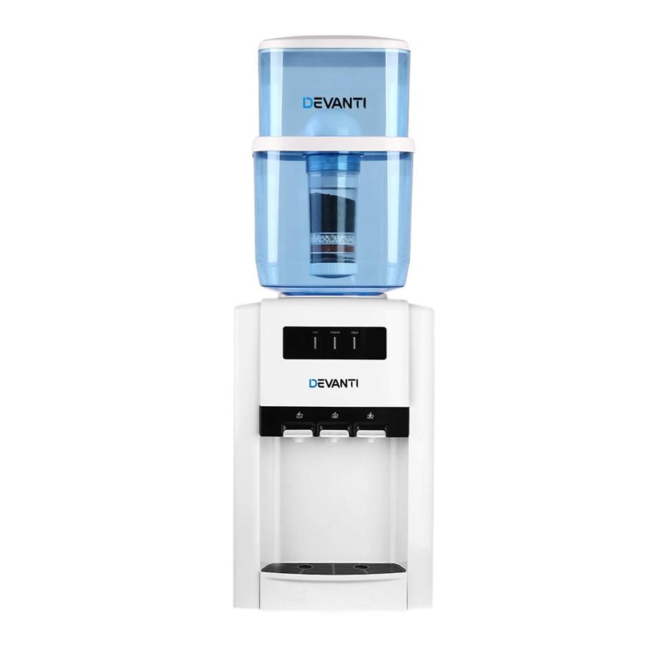 Devanti 22L Water Cooler Dispenser Filter Purifier Bench Top Three Taps