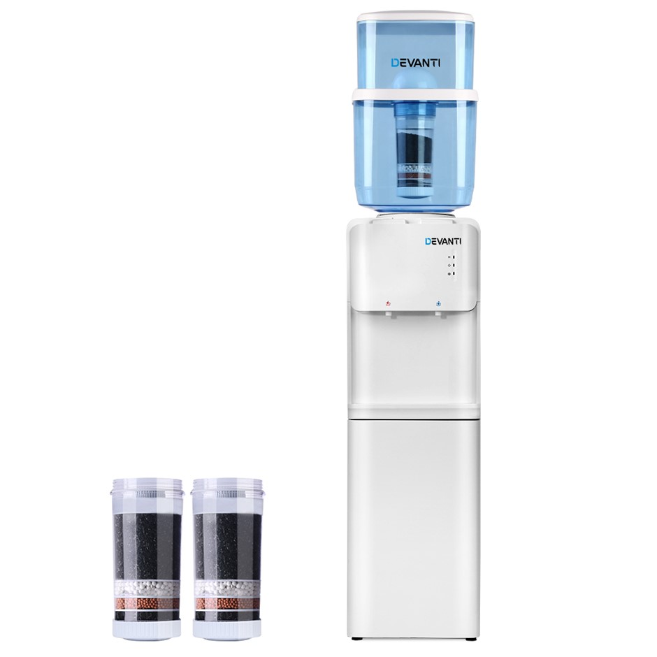Devanti 22L Water Cooler Chiller Dispenser Stand Hot Cold Taps