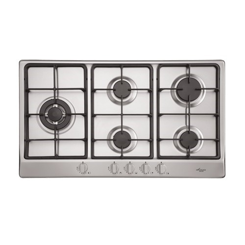 Euro 90cm Stainless Steel Gas Cooktop, Model: EGZ90LWFCSXS